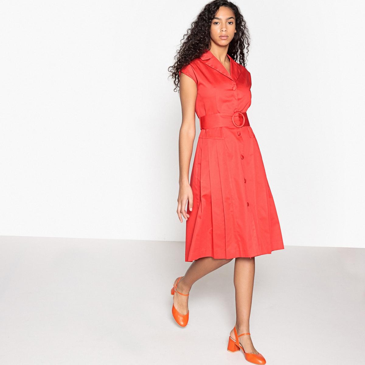 Платье-рубашка с поясом в духе 50-х годов