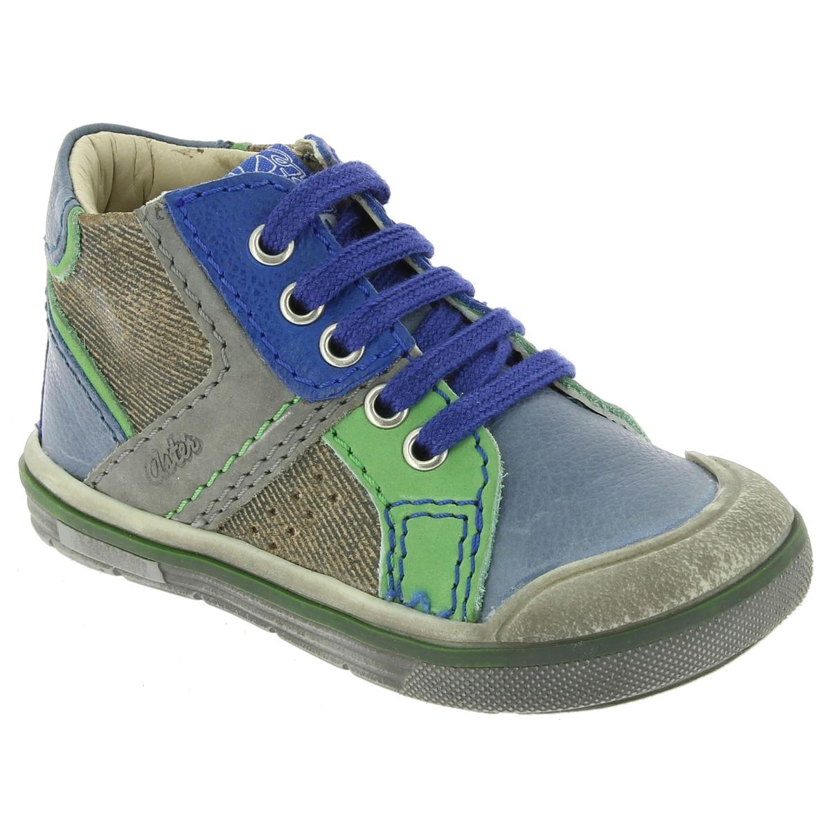 Кеды высокие DribbleПодкладка : Неотделанная кожа           Стелька : Неотделанная кожа                        Подошва : Синтетический материал         Форма каблука : Плоская          Мысок : Закругленный         Застежка : Шнуровка<br><br>Цвет: синий/ зеленый<br>Размер: 21