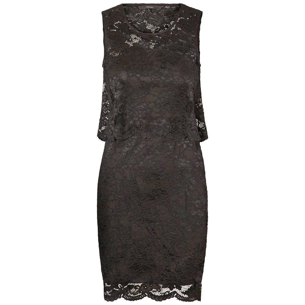 Платье однотонное прямого покроя без рукавов, длина миди, 3/4 от La Redoute