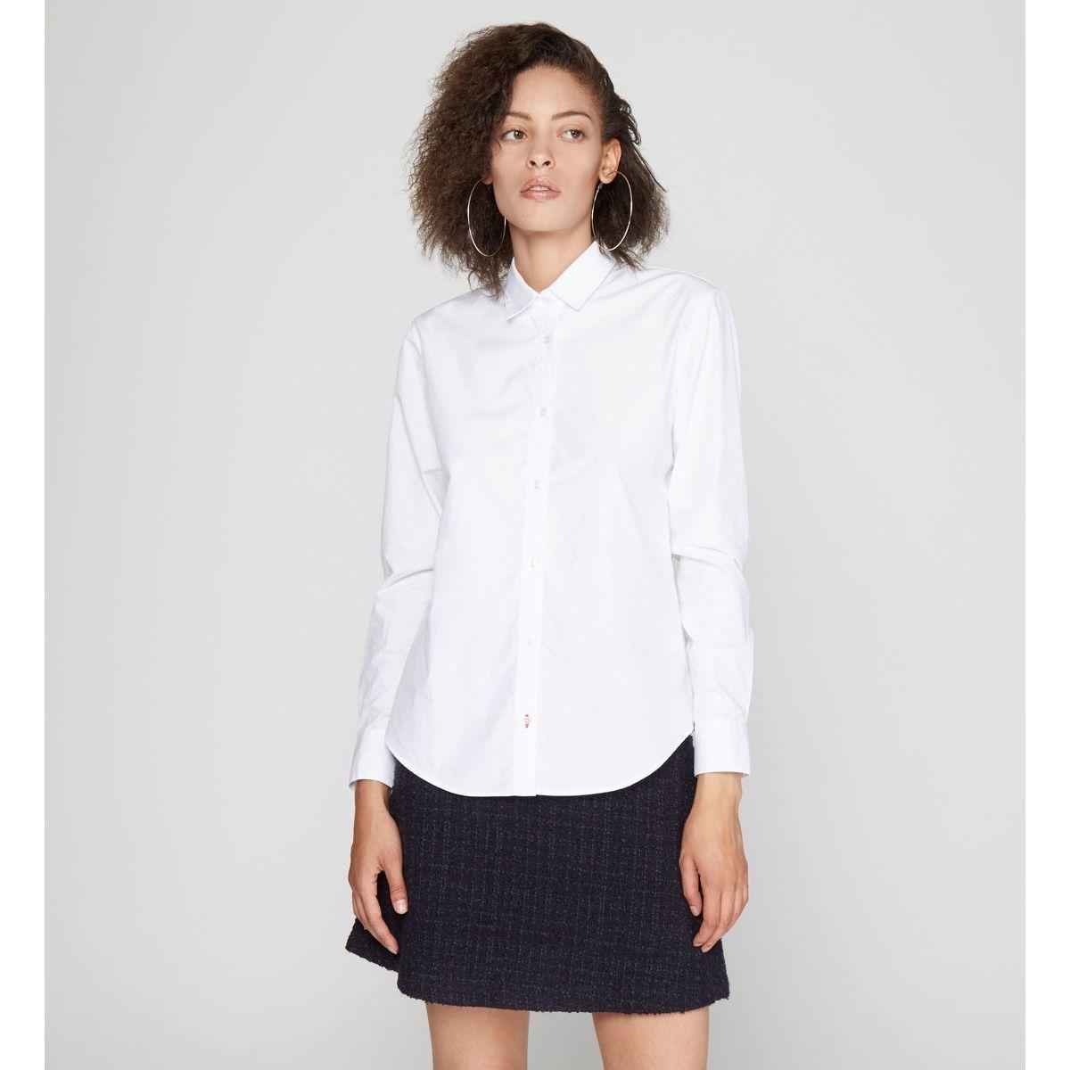 Chemise Alia Droite En Coton Blanc