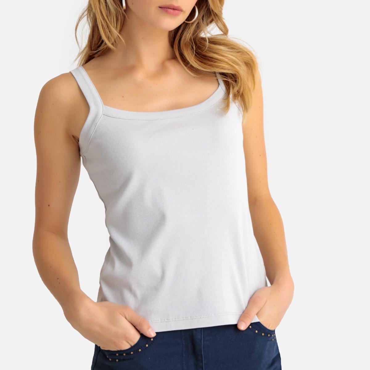 Imagen principal de producto de Camiseta sin mangas 100% algodón peinado - Anne weyburn