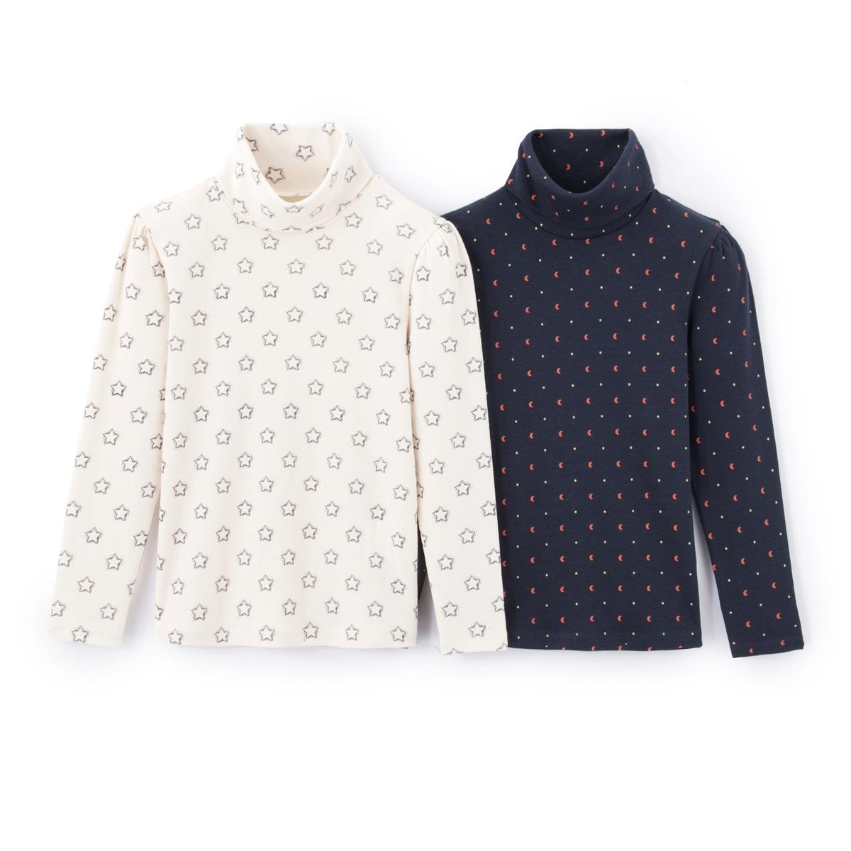 Комплект из тонких пуловеров с рисунком 3-12 лет
