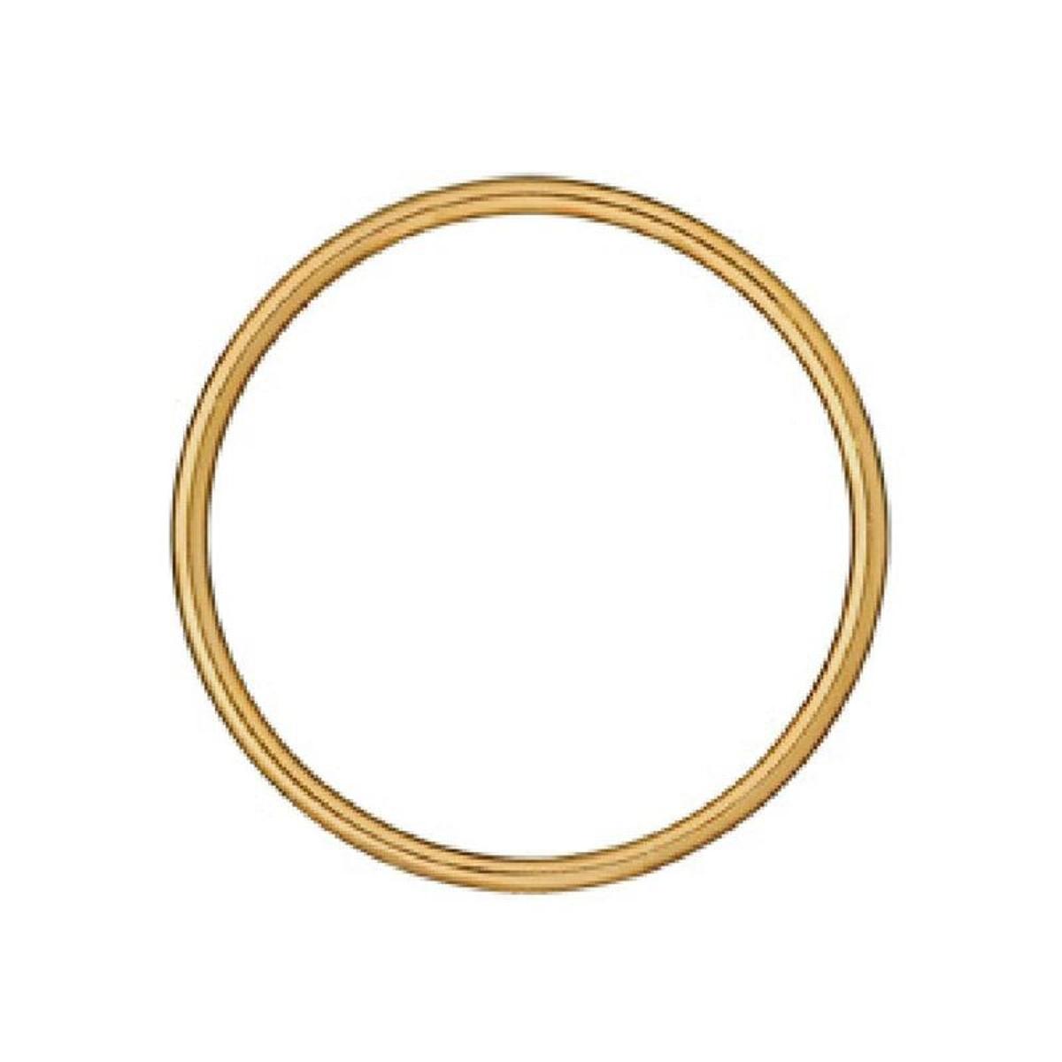 Bracelet Rigide 65 mm Fil 3 mm Plaqué Or