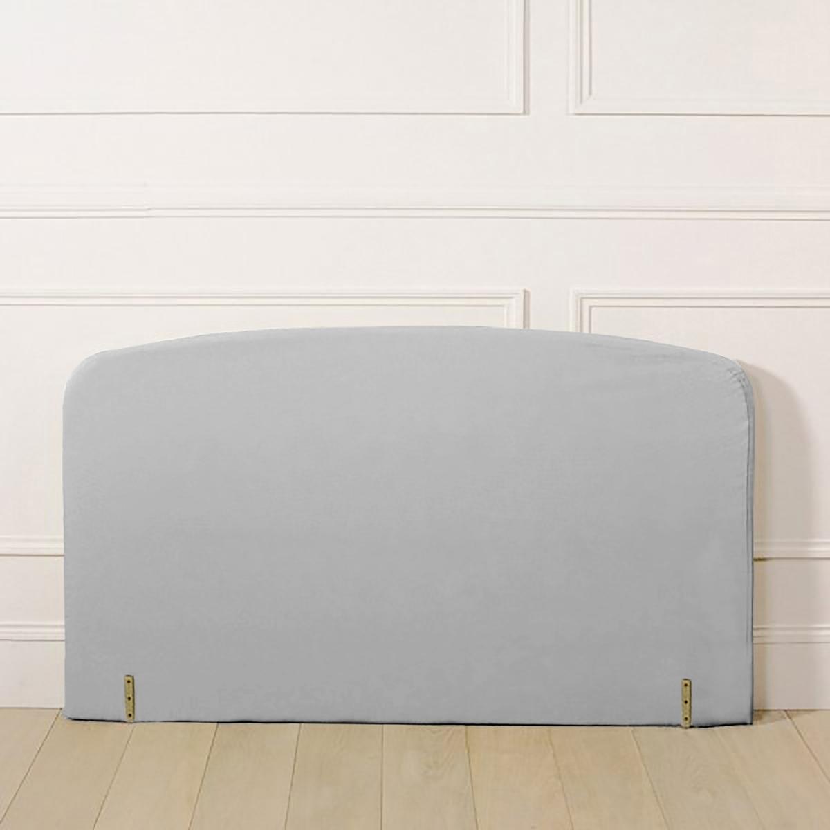 Чехол LaRedoute Для изголовья кровати изогнутой формы из поликоттона 90 x 85 см серый