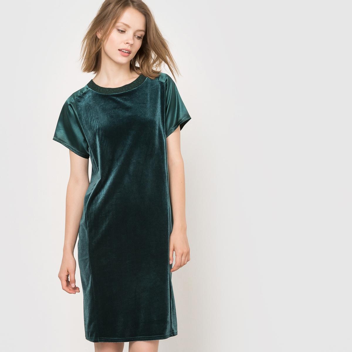 Вечернее платье из двух материалов