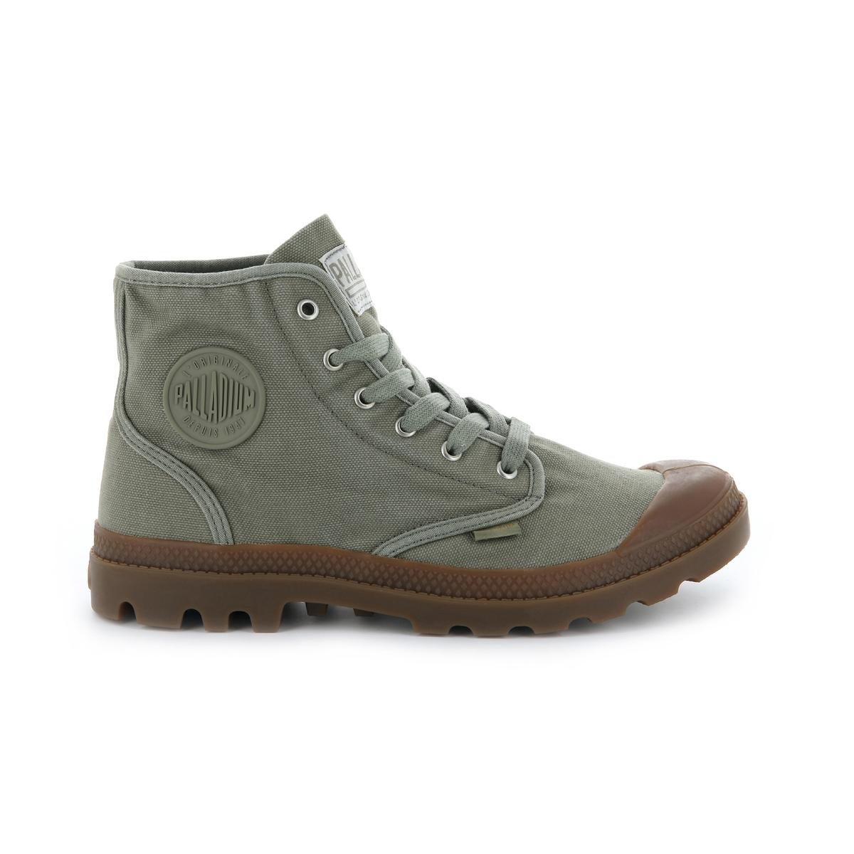 Кеды высокие Us Pampa HighОписание:Детали •  Кеды высокие •  Спортивный стиль •  Плоский каблук •  Высота каблука : 2,5 см •  Застежка : шнуровка •  Гладкая отделкаСостав и уход •  Верх 100% текстиль •  Подкладка 100% хлопок •  Стелька 100% хлопок •  Подошва 100% каучук<br><br>Цвет: зеленый хаки