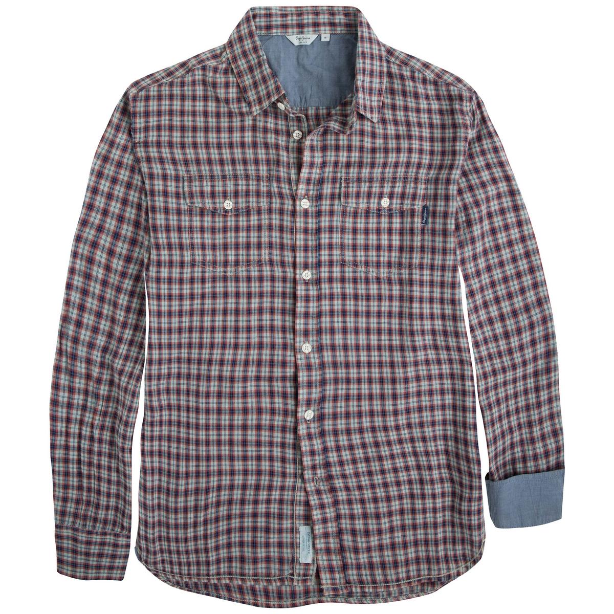 Рубашка PEPE JEANS IRONSHELLСостав и описание :Материал : 97% хлопка, 3% льна Марка : PEPE JEANS<br><br>Цвет: в клетку