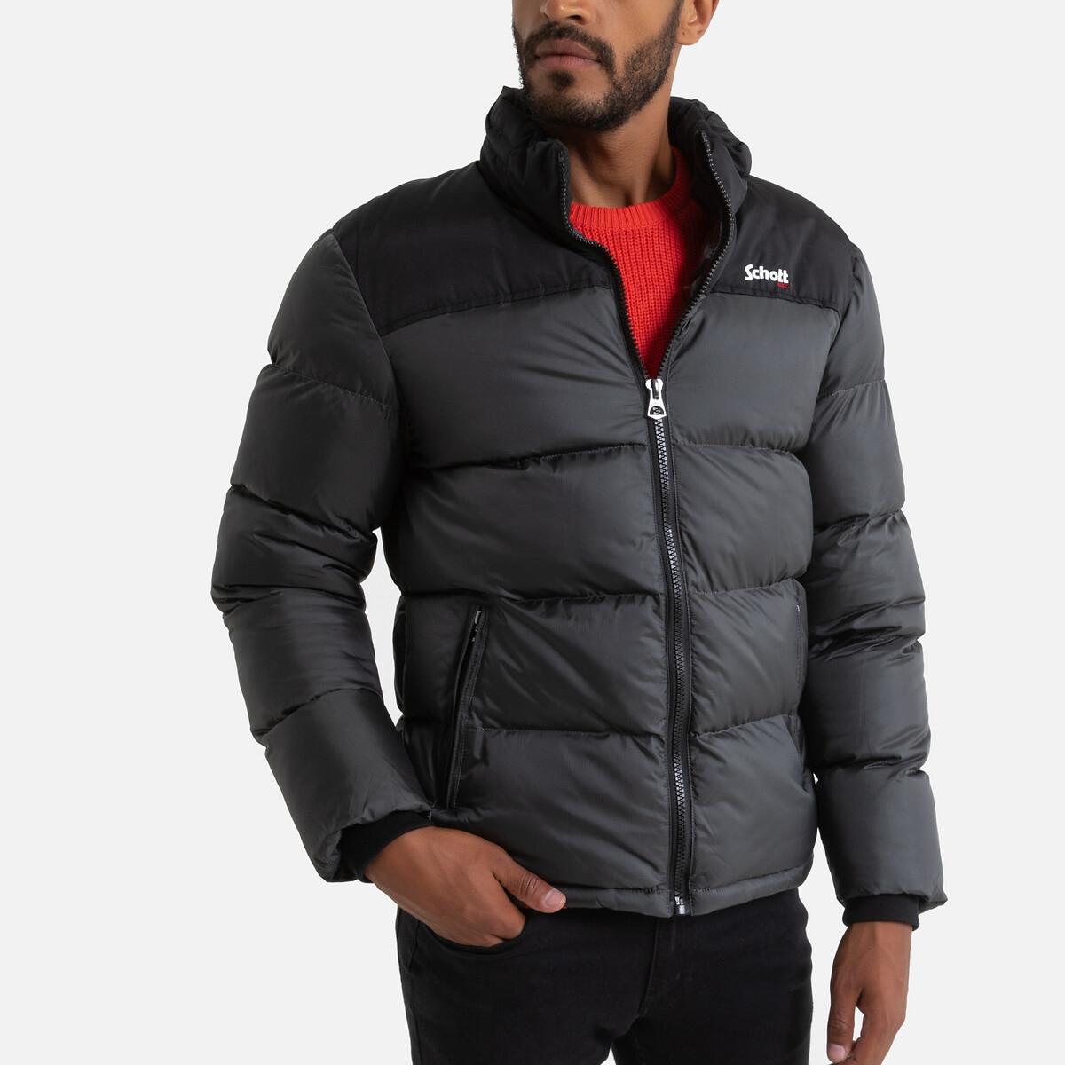Куртка LaRedoute Стеганая двухцветная с воротником-стойкой Utah 3XL серый