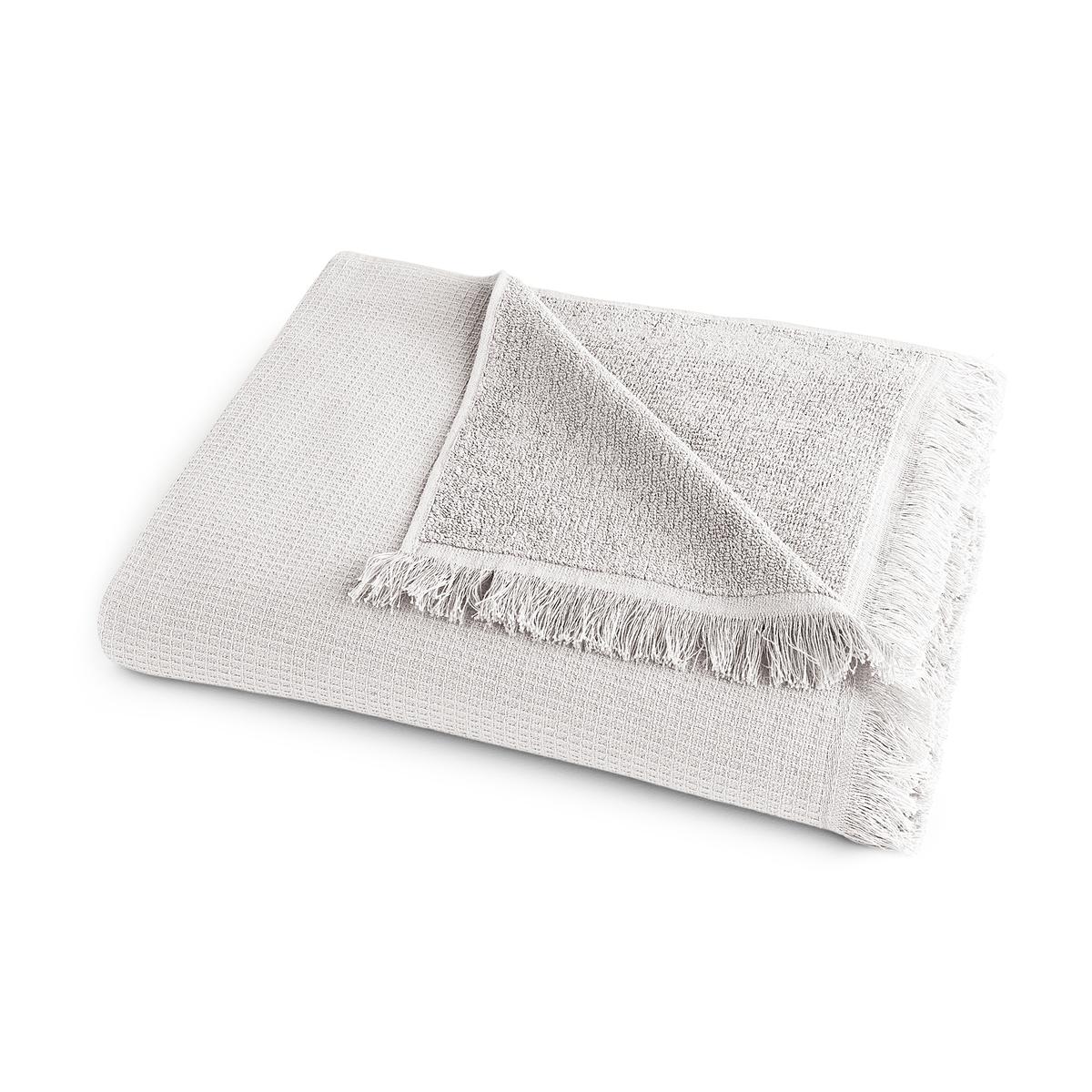 Полотенце La Redoute Банное из хлопка и льна Nipaly 70 x 140 см серый комплект из полотенце для la redoute рук из хлопка и льна nipaly 50 x 100 см белый