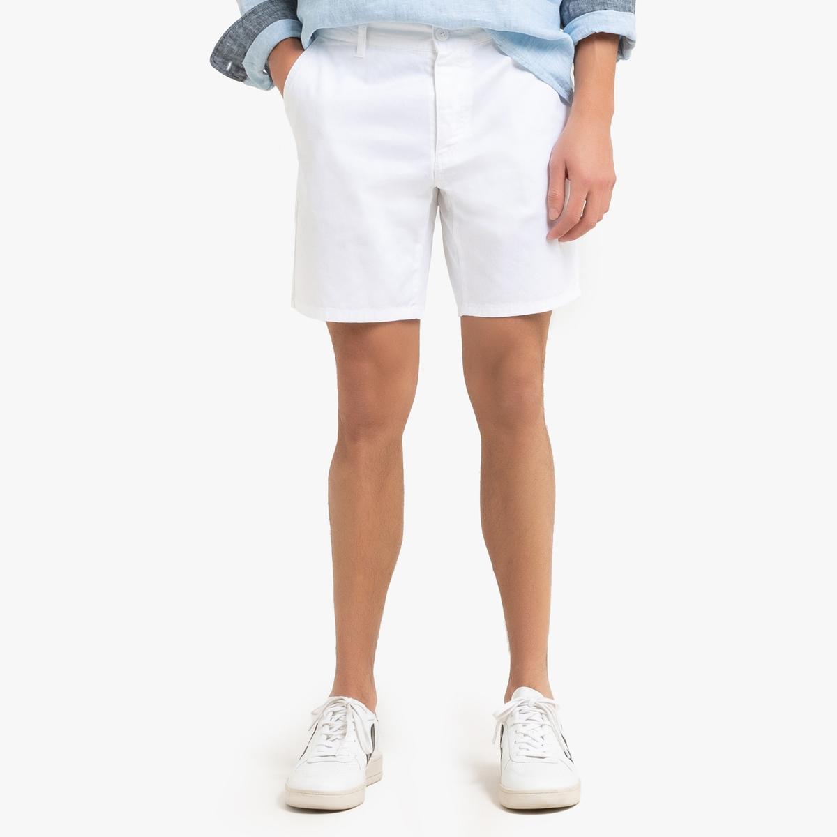 Бермуды-чинос LaRedoute La Redoute 38 (FR) - 44 (RUS) белый брюки la redoute в полоску широкие с высокой талией 38 fr 44 rus черный