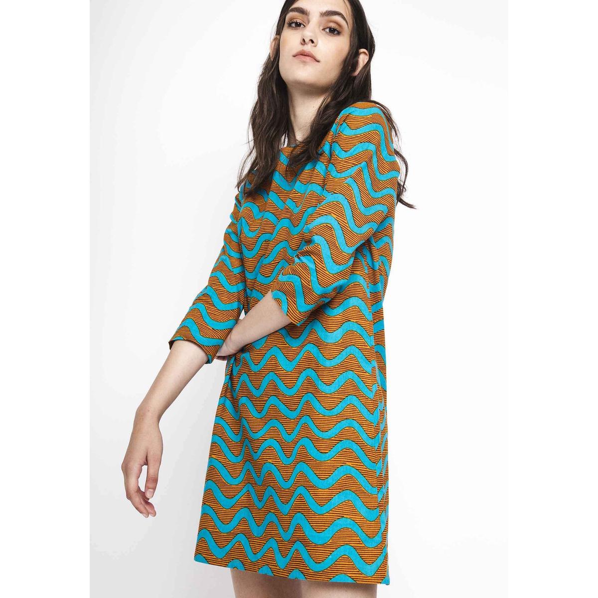 Платье прямое короткое, с рукавами 3/4 от COMPANIA FANTASTICA