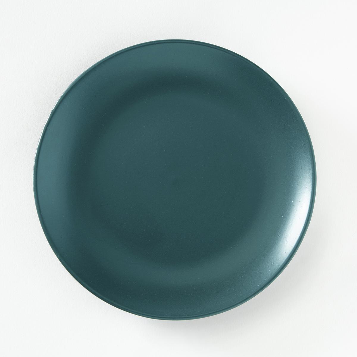 4 тарелки десертные из матовой керамики, AbessiХарактеристики 4 десертных тарелок из матовой керамики Abessi :- Из керамики с матовой отделкой  .- Диаметр 20 см  .- Можно использовать в посудомоечных машинах и микроволновых печах.Плоские и глубокие тарелки Abessi продаются на нашем сайте .<br><br>Цвет: антрацит,зеленый,сине-зеленый