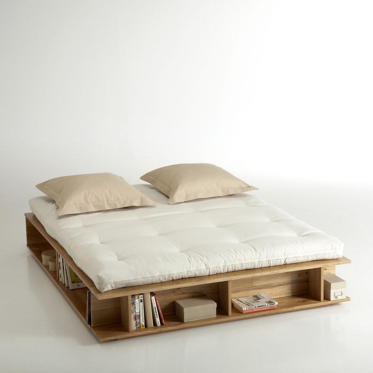Кровать LaRedoute С ящиками для хранения и полуприподнимаемым каркасом Presto 140 x 190 см желтый