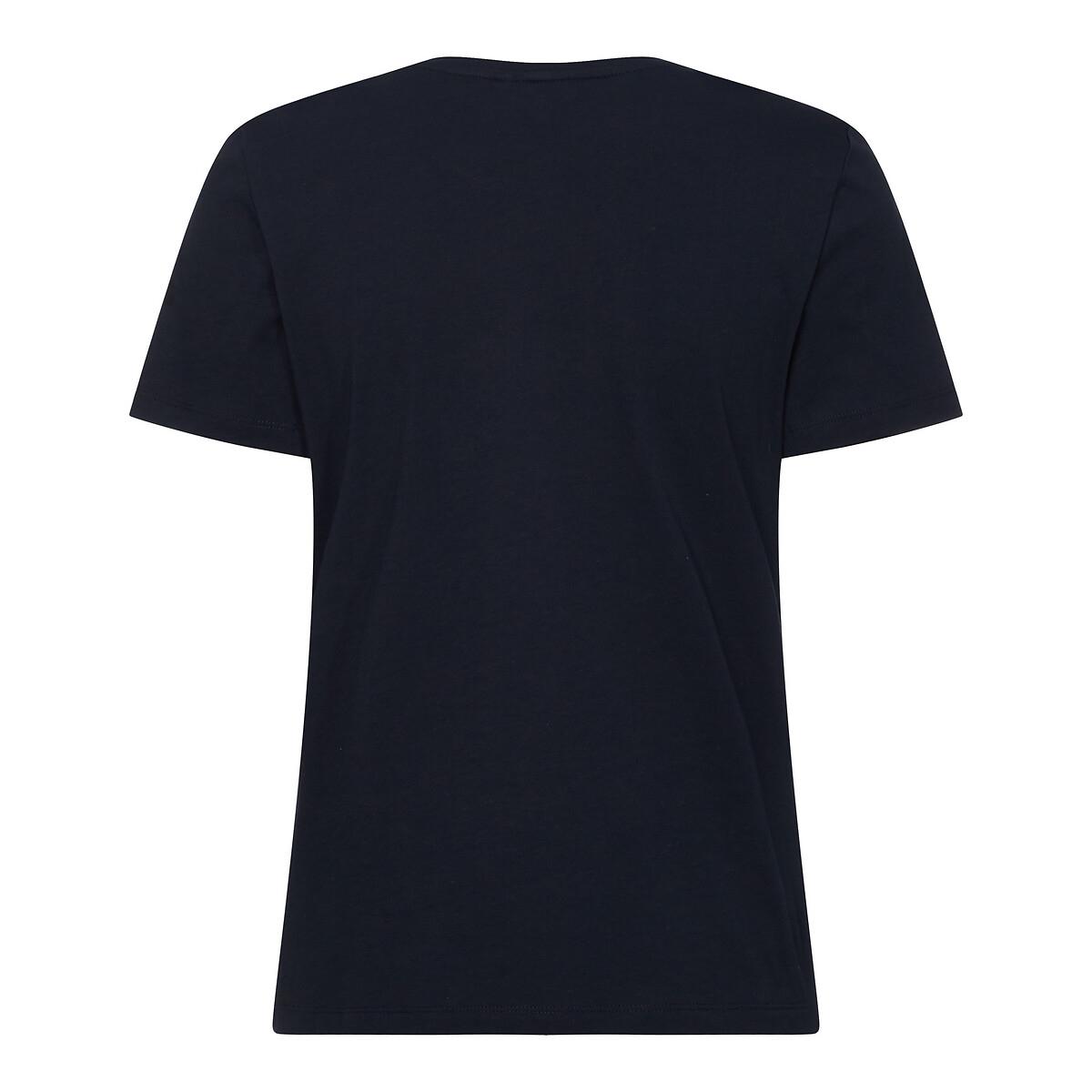 Tee shirt col rond manches courtes logo pailleté