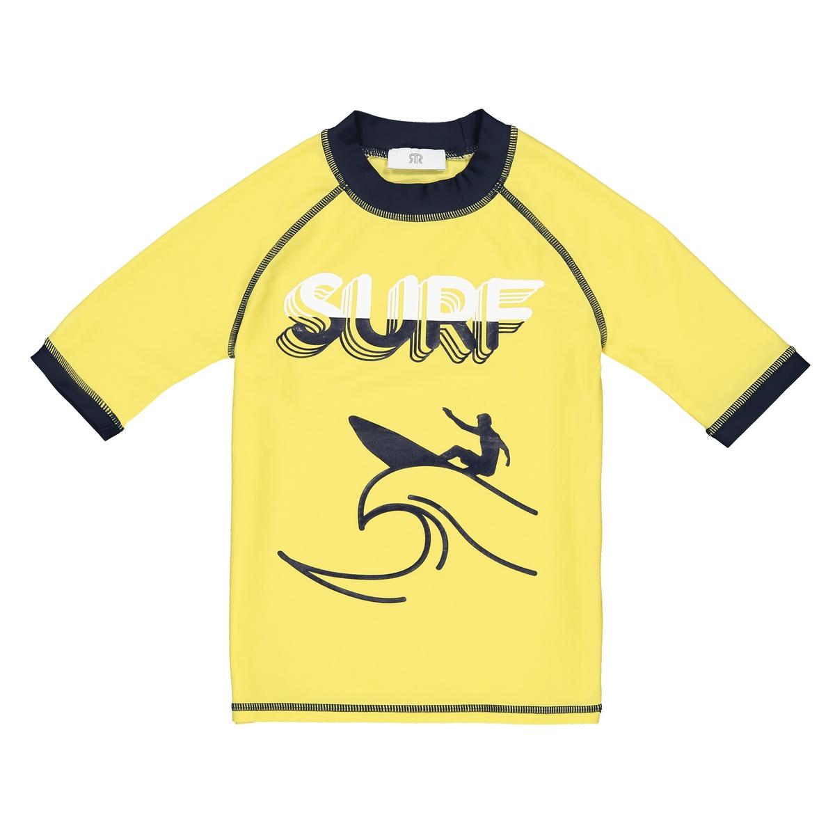 Футболка La Redoute Анти-УФ с принтом спереди 3 года - 94 см желтый hdp 5000 ds lam1