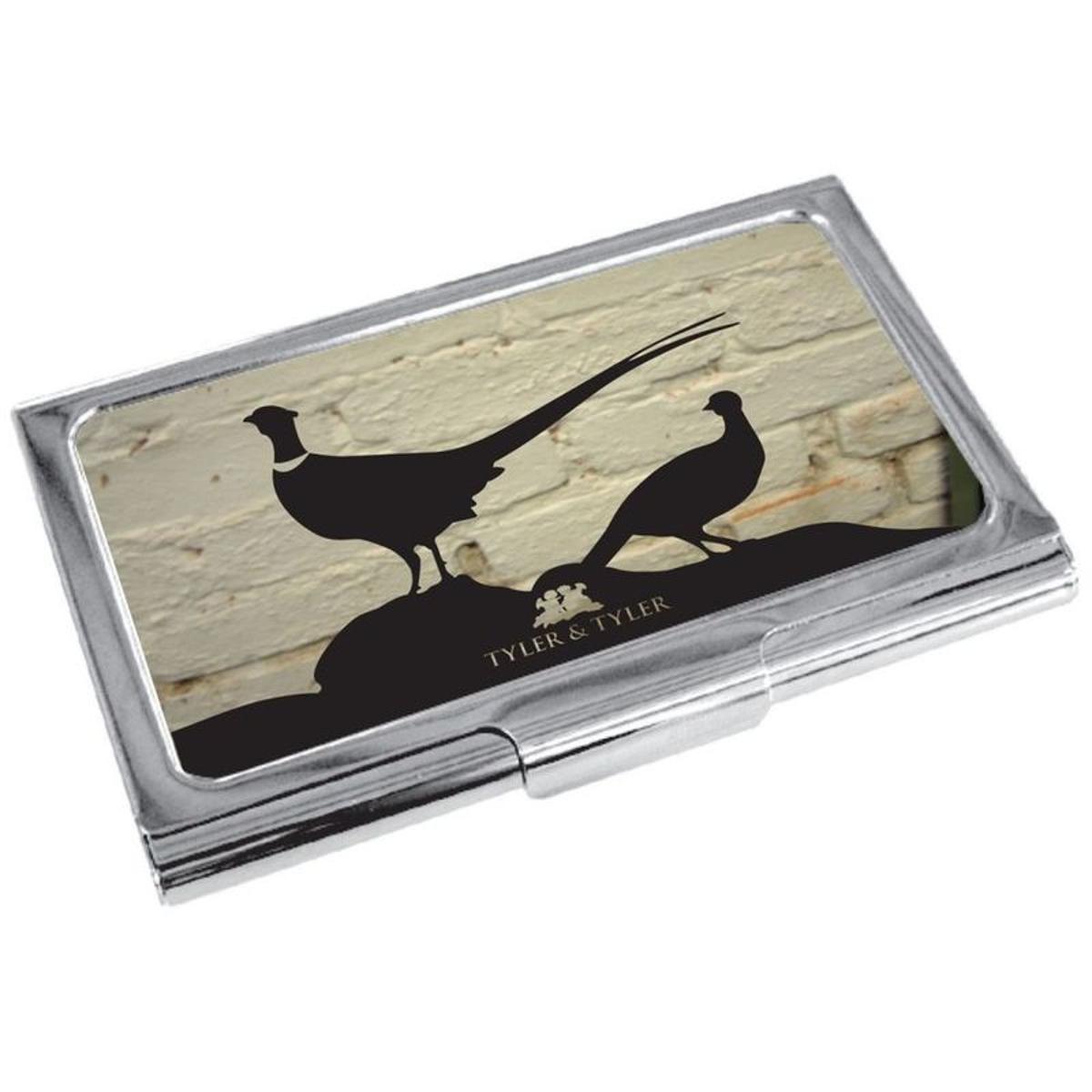 Porte cartes de visite T&T, Faisan White Brick