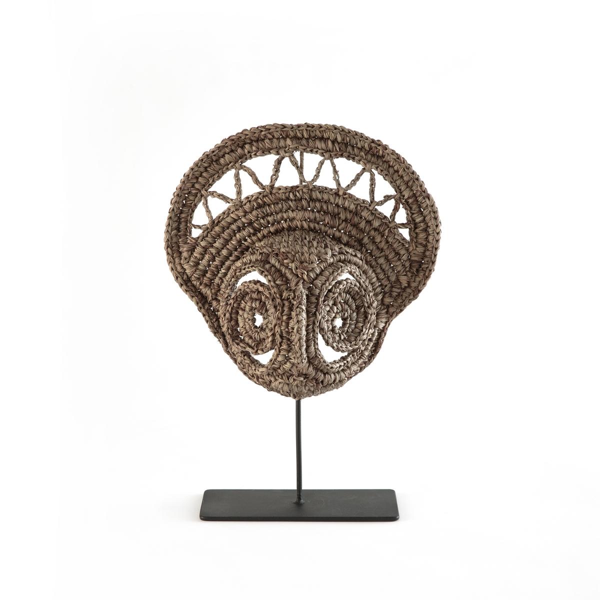 Маска племенная из плетеного сизаля Papoung