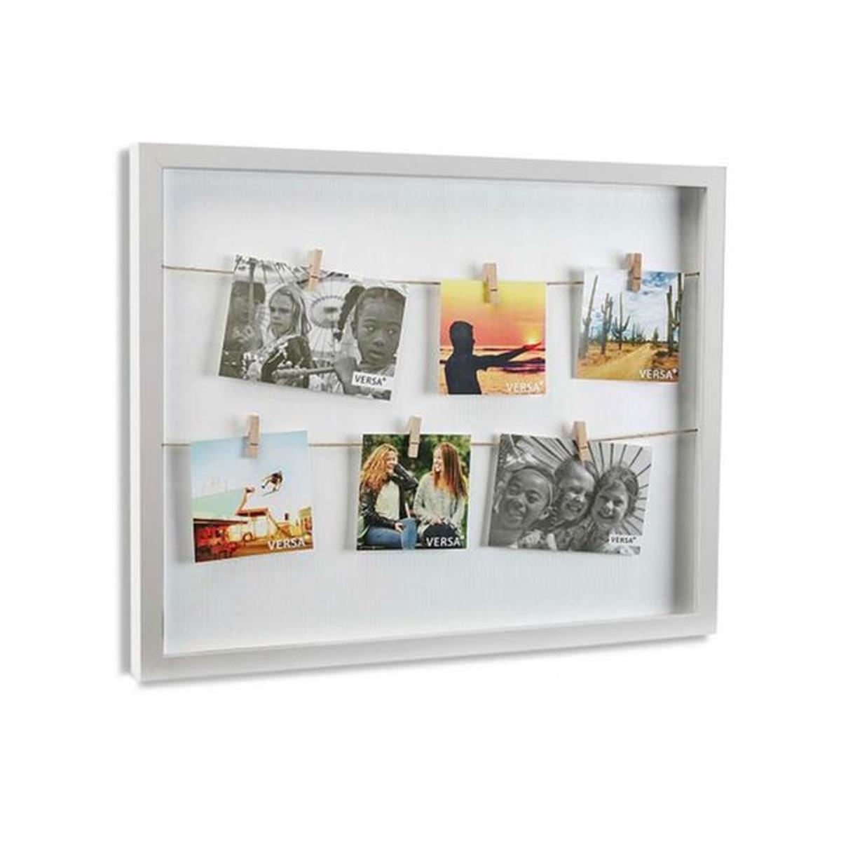 Cadre à photos avec pinces blanc HANG 53 x 43 cm