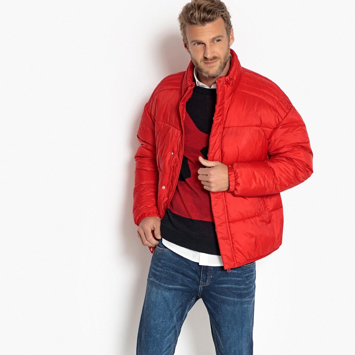 цена Куртка La Redoute Стеганая с воротником-стойкой XXL красный онлайн в 2017 году