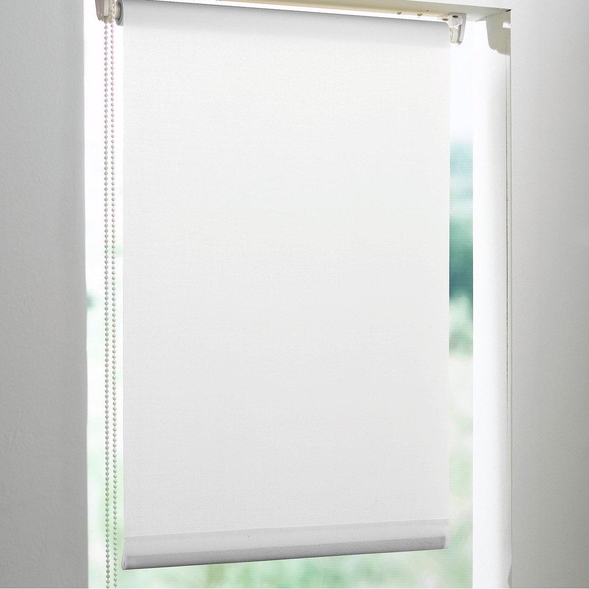 Штора рулонная, пропускающая свет, узкаяПропускающую свет рулонную штору EASY легко установить на окна любого типа шириной 32-42 см. Губчатая ткань, 100% полиэстер, тяжелая рейка снизу. Длина регулируется механизмом с цепочкой. Можно отрезать по ширине.     Очень современные цвета, простота установки ! Можно закрепить классическим способом, просверлив отверстия, или установить, используя новую систему фиксации :     - клипсы для окон из ПВХ (в комплекте)     - специальный набор крепления EASY для окон из дерева и алюминия (продается отдельно).     VALEUR S?RE - качественные изделия с красивой отделкой.<br><br>Цвет: белый<br>Размер: 170 x 42 см