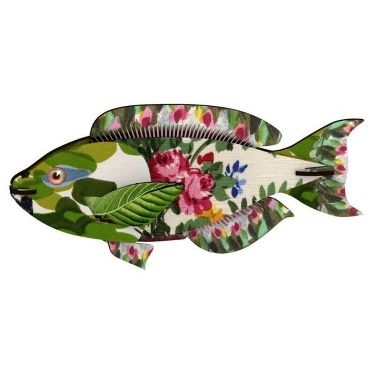 Décoration murale trophée poisson bois Seaweed Joke