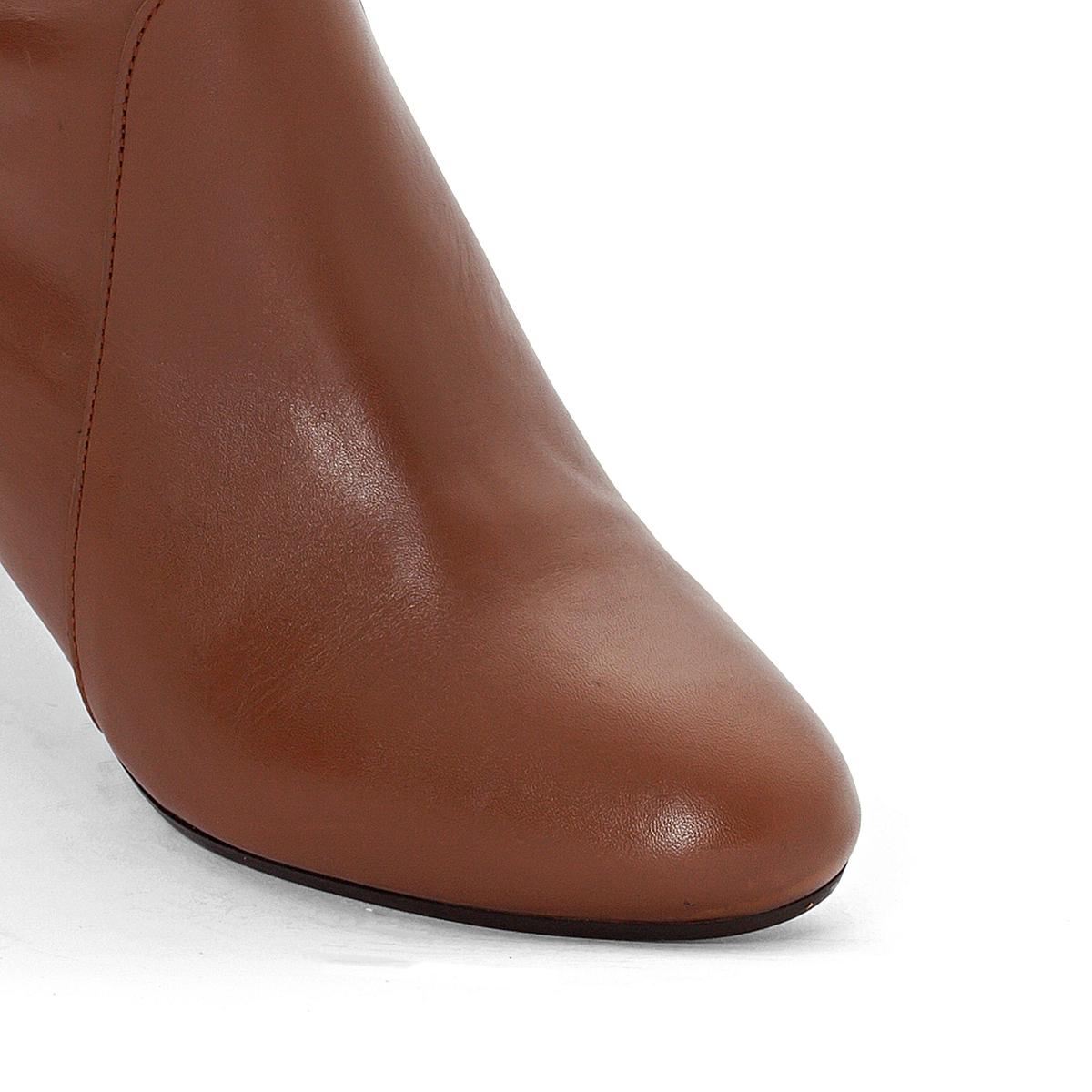 Ботинки кожаные ChelseaПодкладка : Кожа.      Стелька : Каучук.     Подошва : Каучук.     Форма каблука : Плоский каблук     Мысок : Закругленный     Застежка : без застежки<br><br>Цвет: каштановый<br>Размер: 37
