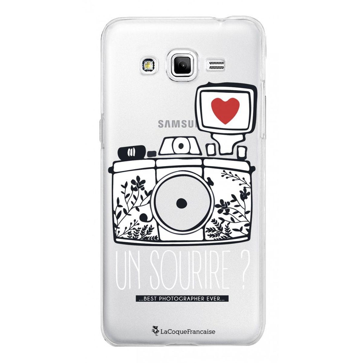 Coque Samsung Galaxy Grand Prime rigide transparente, Un sourire, La Coque Francaise®