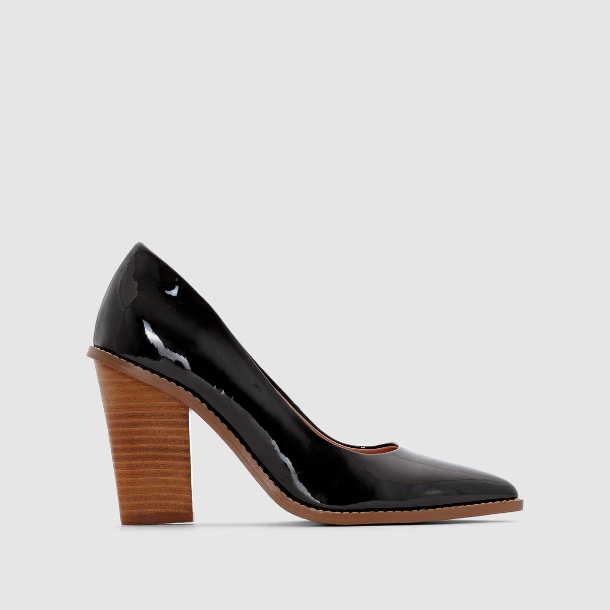 ТуфлиВерх : синтетика.        Подкладка : кожа                                     Стелька : кожа      Подошва : из эластомера     Высота каблука : 9 см     Застежка : без застежкиИх преимущество: высокая и удобная модель для тех, кто любит благородный чёрный цвет !<br><br>Цвет: черный<br>Размер: 41