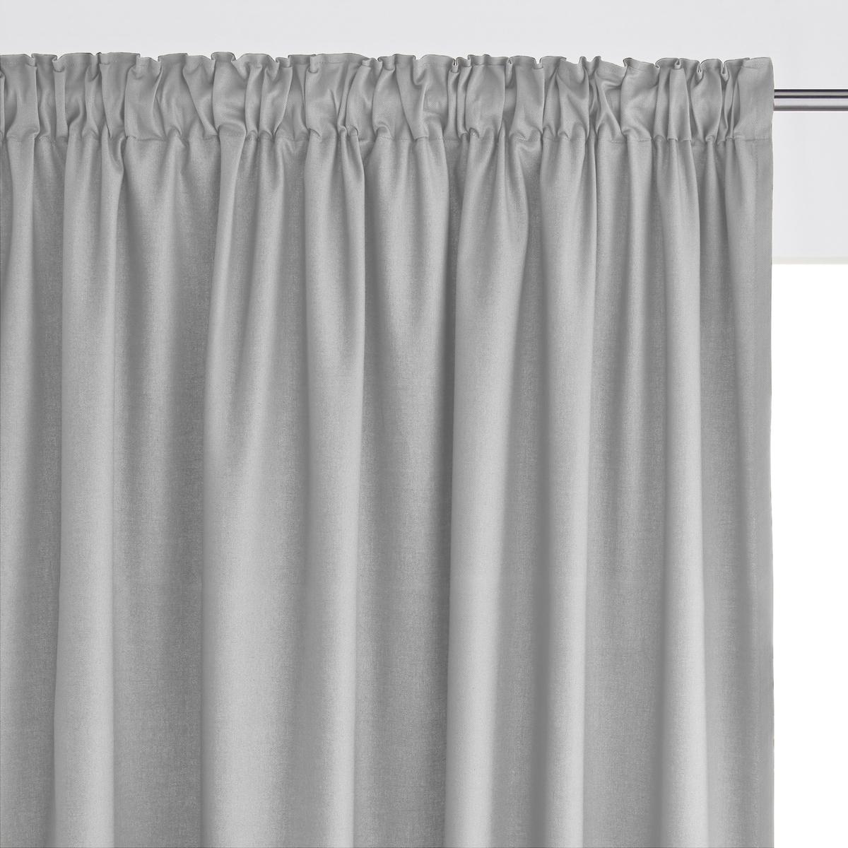 Штора 100% хлопка с отделкой тесьмойШтора из красивой и очень прочной ткани 100% хлопка (220г/м?) .               Отделка тесьмой со складками, низ с перекидным швом (продается с термоклейкой лентой для создание подрубленного края).Гамма штор сочетается с коллекцией декора SCENARIO  .Крючок для крепления в комплекте                            Машинная стирка при 40 °С. Отличная стойкость цветов при стирке и на свету .                                                                      Производство осуществляется с учетом стандартов по защите окружающей среды и здоровья человека, что подтверждено сертификатом Oeko-tex®.<br><br>Цвет: бледно-зеленый,вишневый,серо-коричневый,серый жемчужный,темно-серый