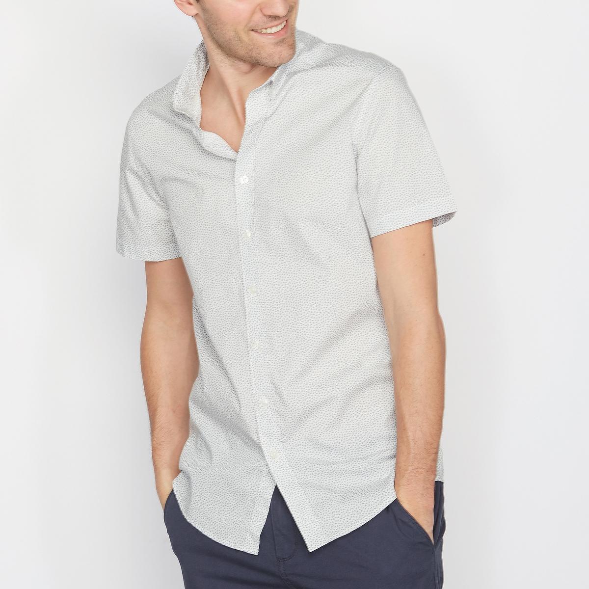 Рубашка с рисунком и короткими рукавами