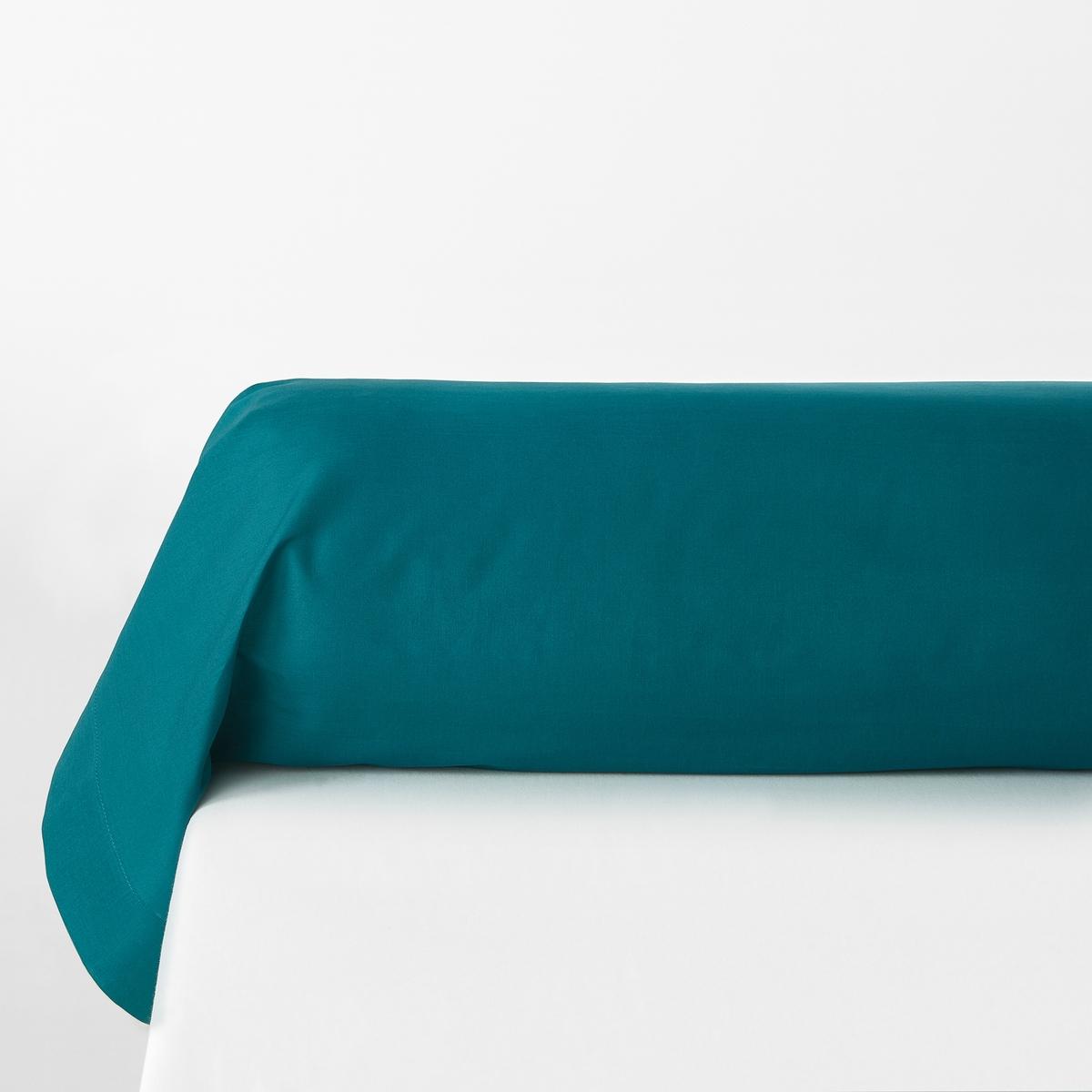 Наволочка La Redoute На подушку-валик из поликоттона SCENARIO 85 x 185 см синий чехол la redoute на подушку валик ecaille 45 x 45 см синий