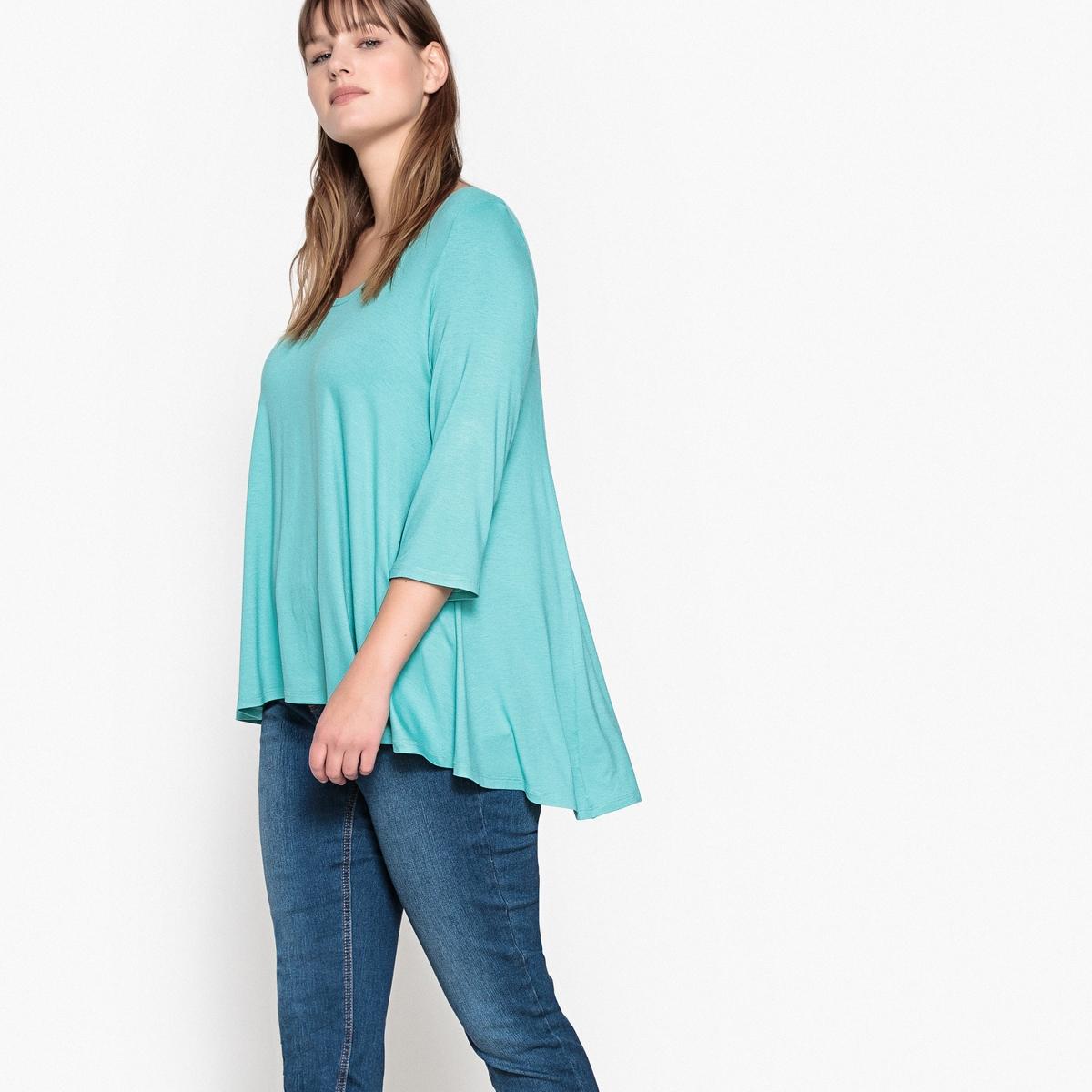 Футболка свободного покрояФутболка. Вам будет удобно в этой футболке широкого покроя с удлиненной спинкой и свободным круглым вырезом. Рукава 3/4. Футболка из мягкого эластичного трикотажа: 95% вискозы, 5% эластана. Длина : 75 см.<br><br>Цвет: розовый пурпурный,темно-серый меланж,черный<br>Размер: 62/64 (FR) - 68/70 (RUS).42/44 (FR) - 48/50 (RUS).46/48 (FR) - 52/54 (RUS).54/56 (FR) - 60/62 (RUS).58/60 (FR) - 64/66 (RUS).50/52 (FR) - 56/58 (RUS).54/56 (FR) - 60/62 (RUS).58/60 (FR) - 64/66 (RUS)