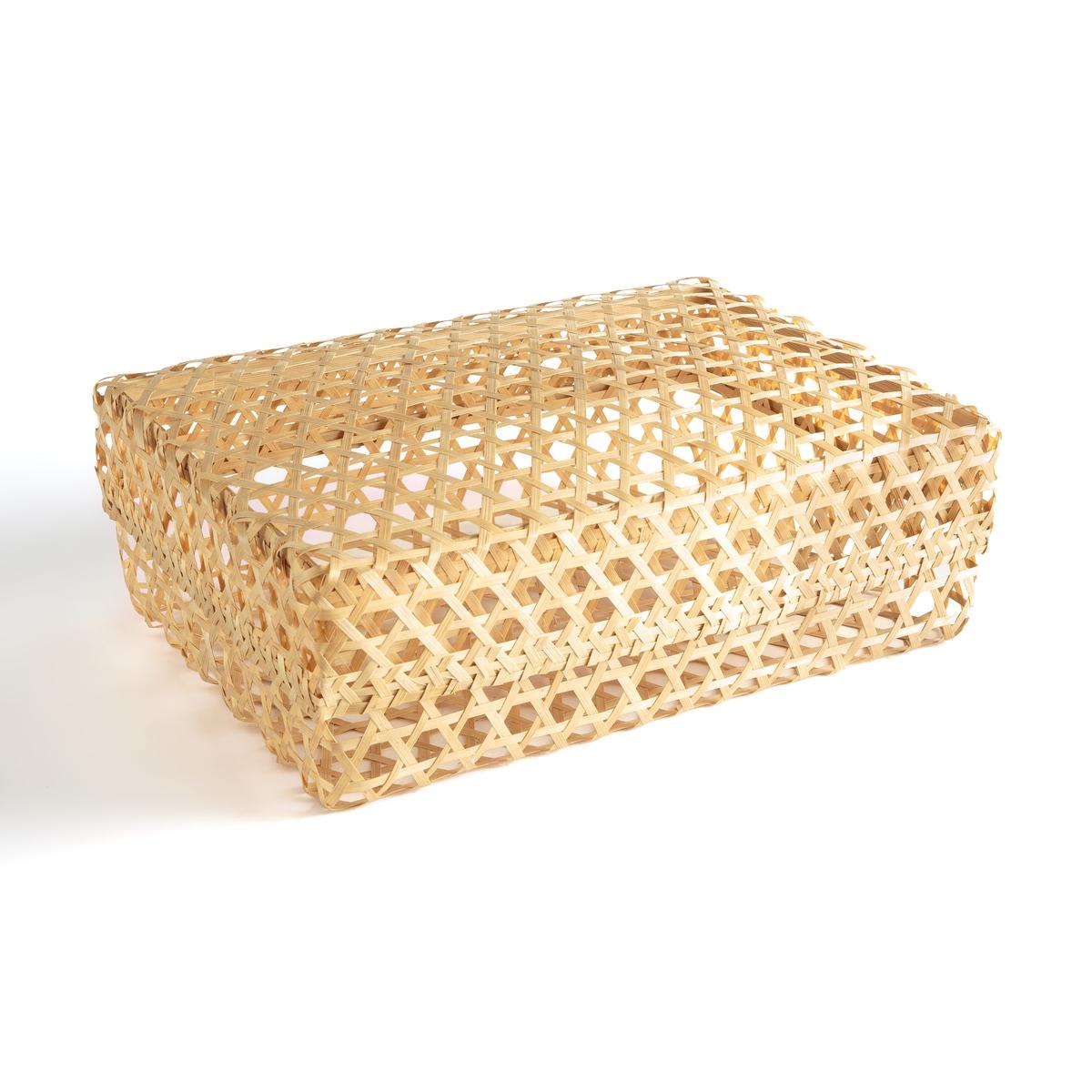 Коробка La Redoute Для хранения вещей из мягкого бамбука Telabo единый размер бежевый коробка для хранения вещей siku bu ikea