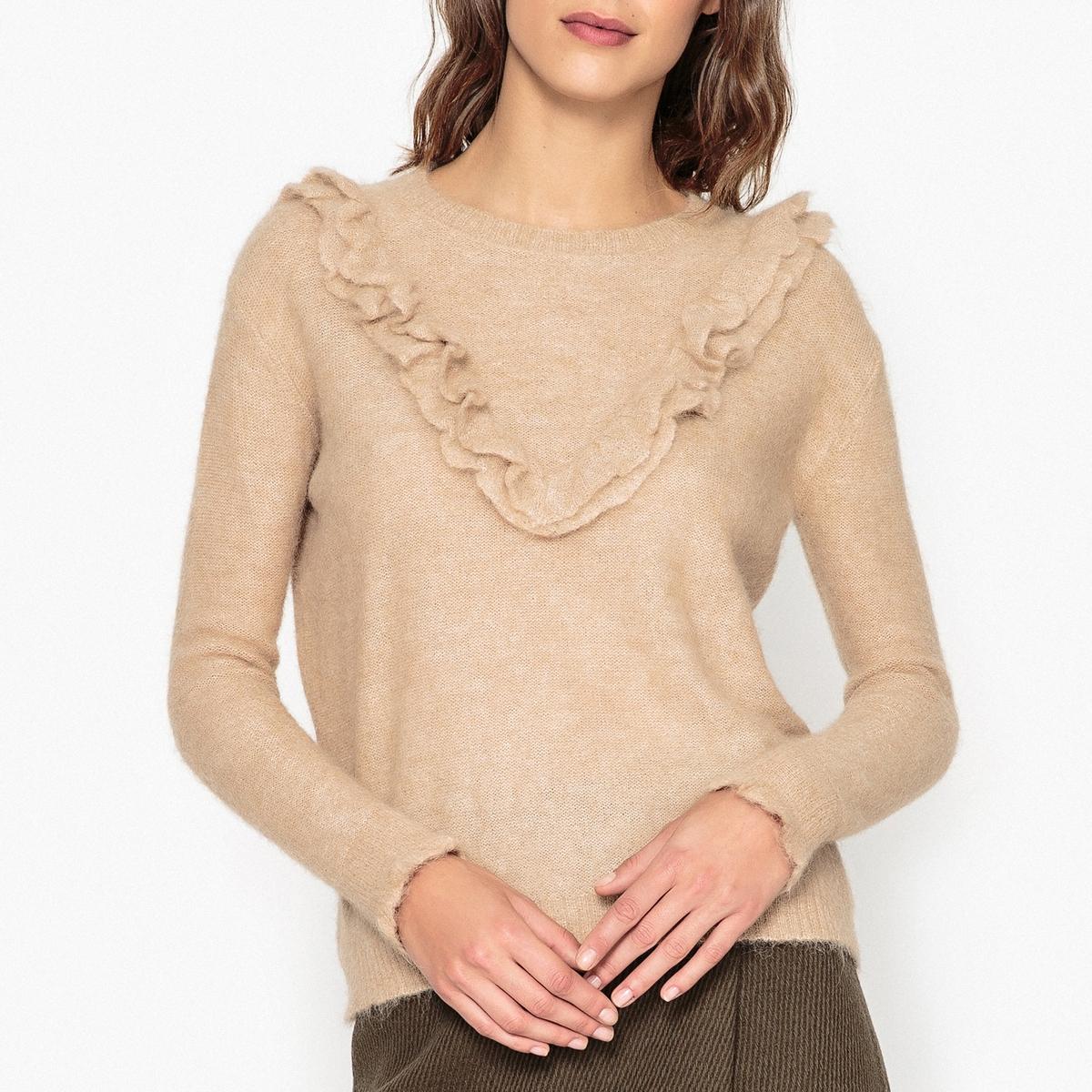 Пуловер из трикотажа с воланами MADELEINE