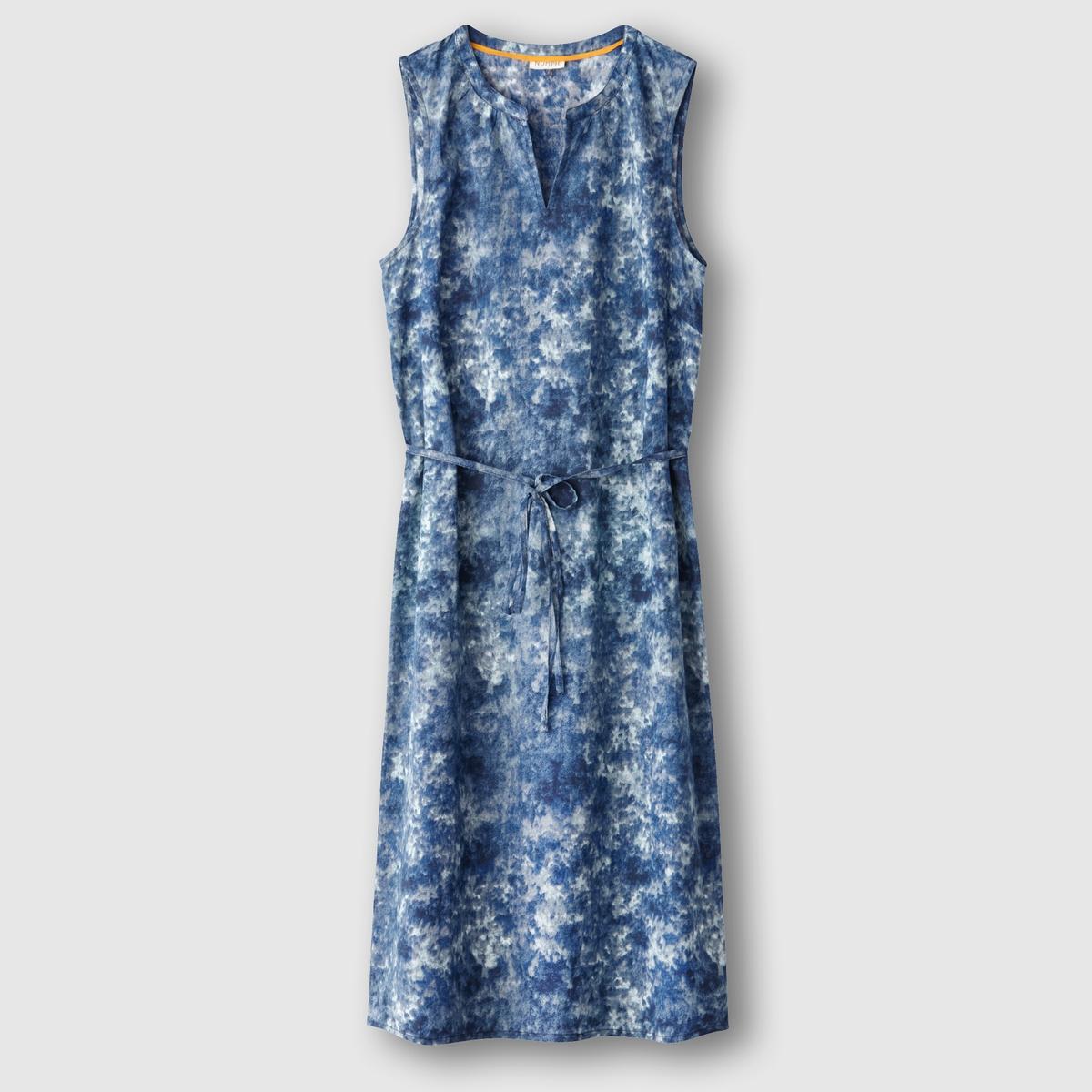 Платье с рисунком KasumiСостав и описаниеМарка : NUMPHМодель : KasumiМатериалы : 100% хлопкаУходМашинная стирка при 30 °C в деликатном режиме с вещами схожих цветов<br><br>Цвет: наб. рисунок синий<br>Размер: 38 (FR) - 44 (RUS)