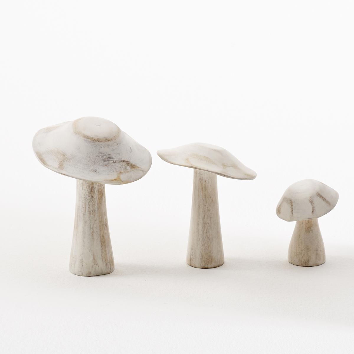 Комплект из 3 декоративных грибов, Fungi.Описание декоративного гриба Fungi:3 размераХарактеристики декоративного гриба Fungi:Из обесцвеченного мангового дереваОткройте для себя всю коллекцию предметов декора на сайте laredoute.ruРазмеры декоративного гриба Fungi:Размер 1 : 11,5 x 11,5 x 15 смРазмер 2 : 10 x 10 x 13 смРазмер 3 : 6 x 6 x 8 см<br><br>Цвет: беленое дерево