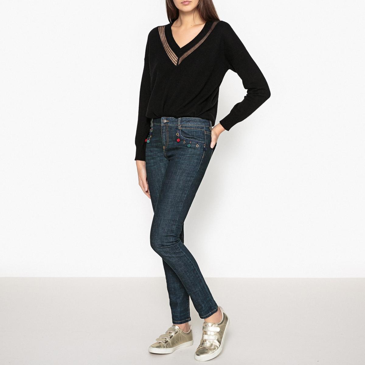 Пуловер из ажурного трикотажа с V-образным вырезом LOREN