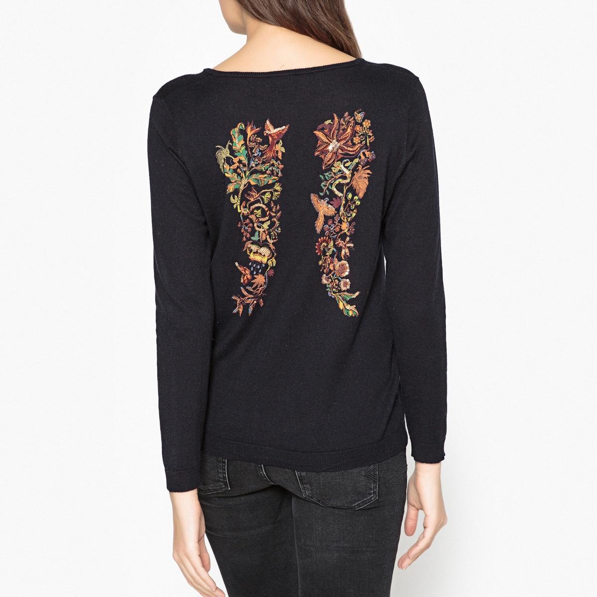 Пуловер из тонкого трикотажа с крыльями сзади LENNY от BERENICE