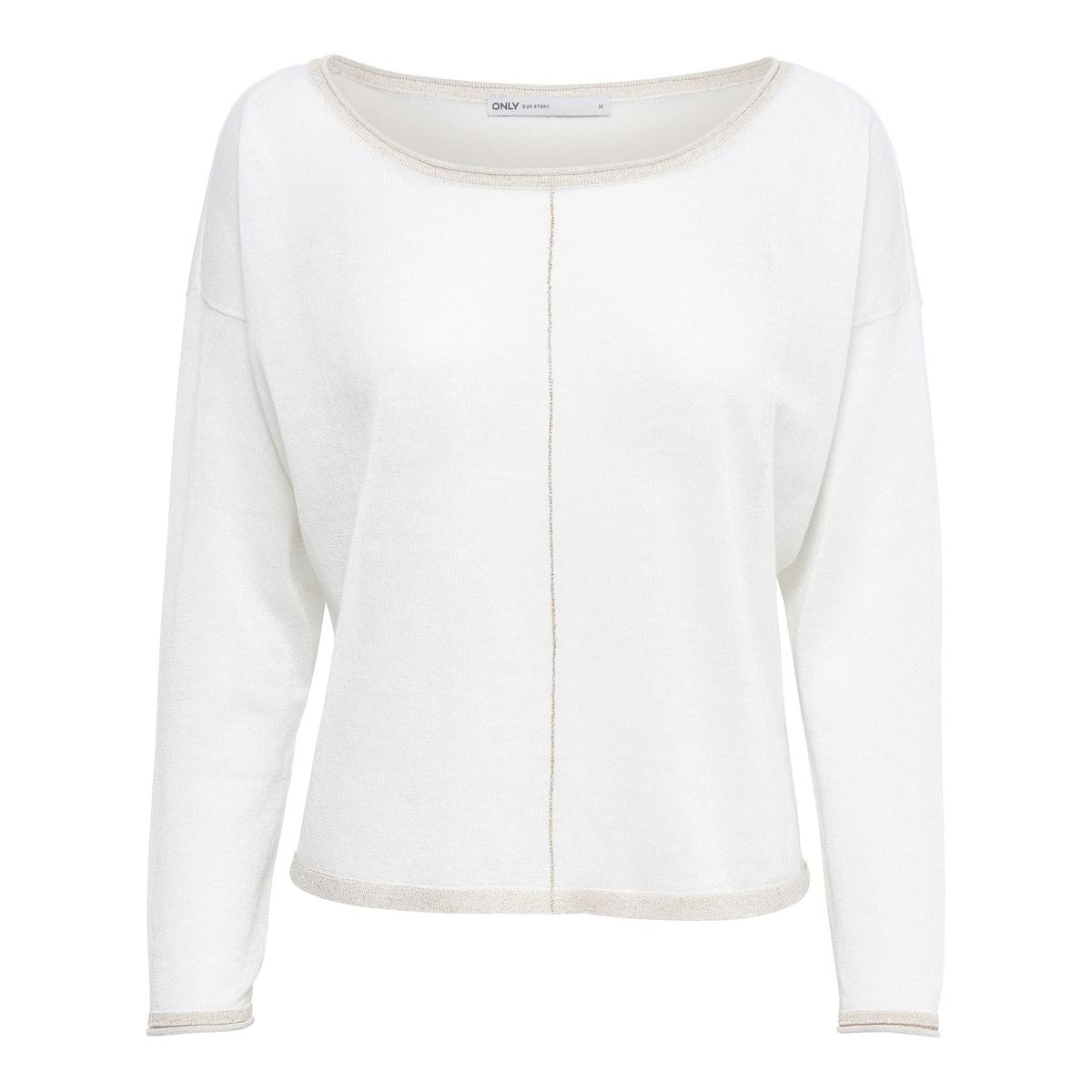 Пуловер с длинными рукавамиОписание:Детали   •  Пуловер классический •  Длинные рукава •  Круглый вырез •  Тонкий трикотажСостав и уход   •  15% льна, 85% полиэстера •  Следуйте рекомендациям по уходу, указанным на этикетке изделия<br><br>Цвет: синий морской<br>Размер: XS
