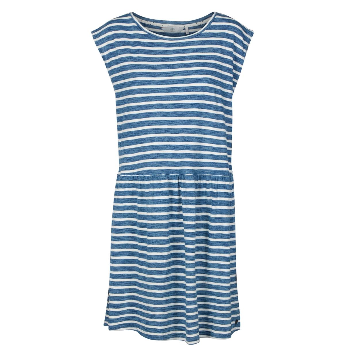 где купить Платье в полоску с короткими рукавами по лучшей цене