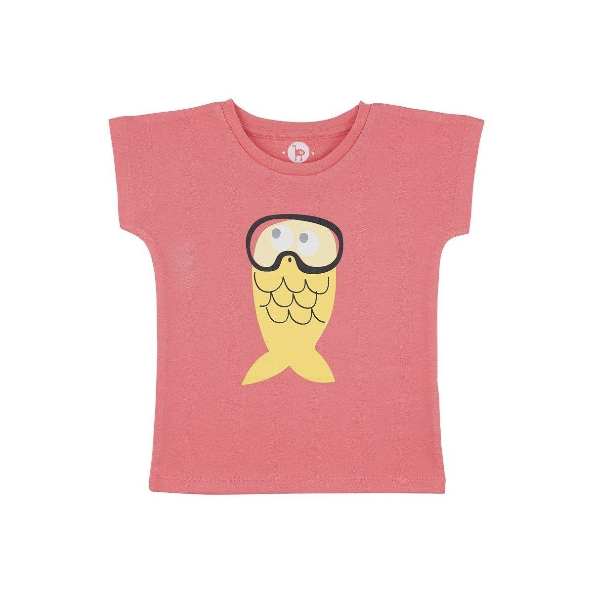 T-shirt poisson masque 100% Coton Bio