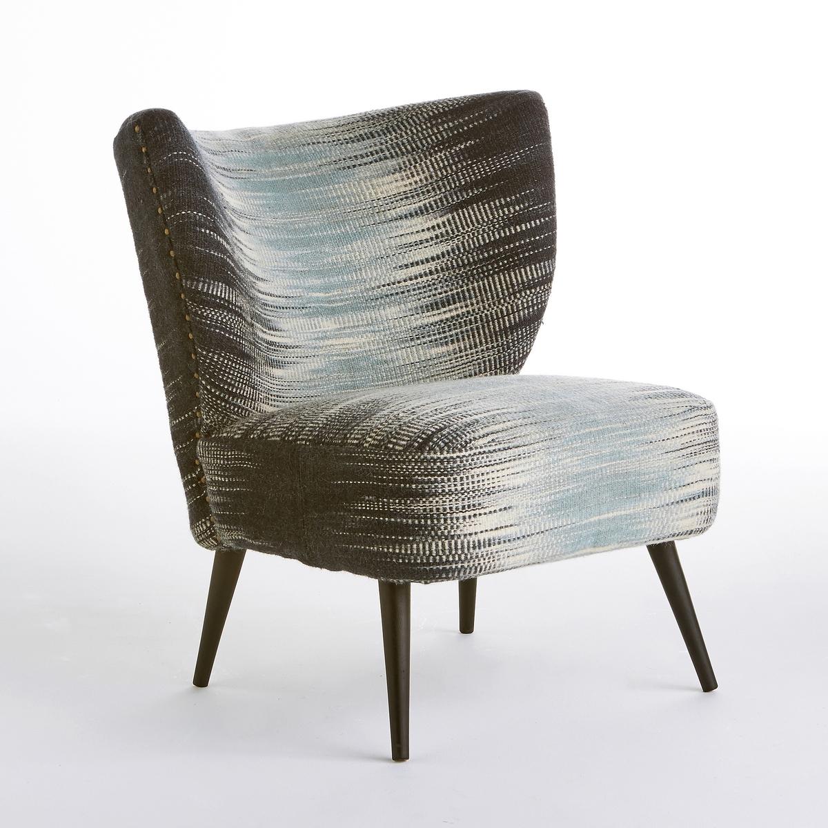 Кресло Franck с рисунком икат