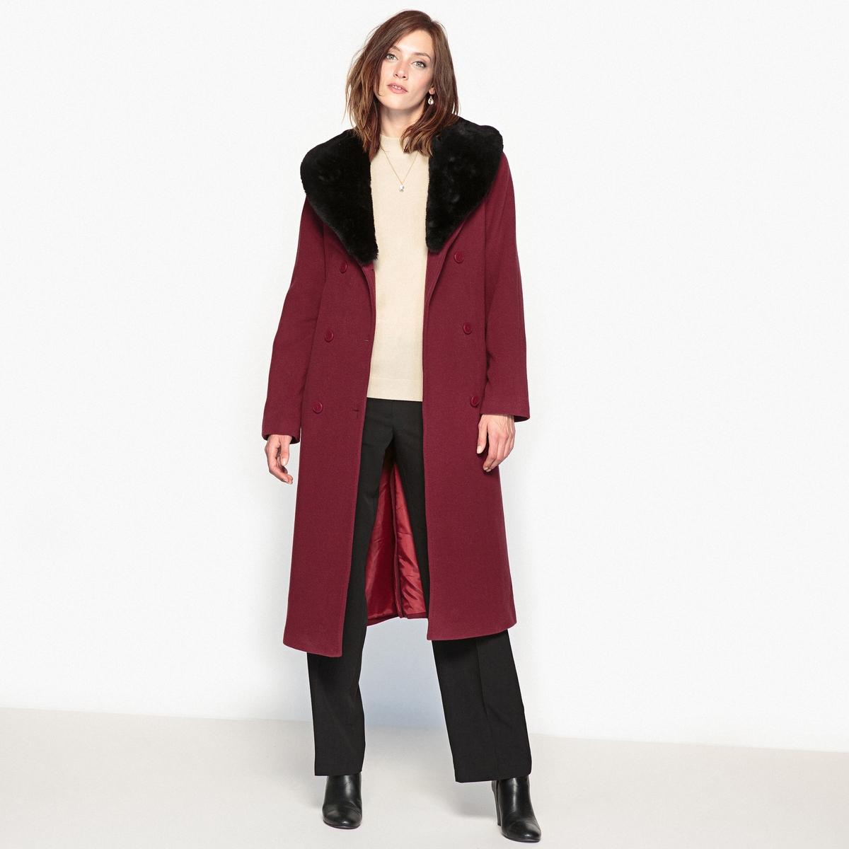 Пальто из шерсти и кашемира, длина 110 см пальто из шерстяного драпа 70