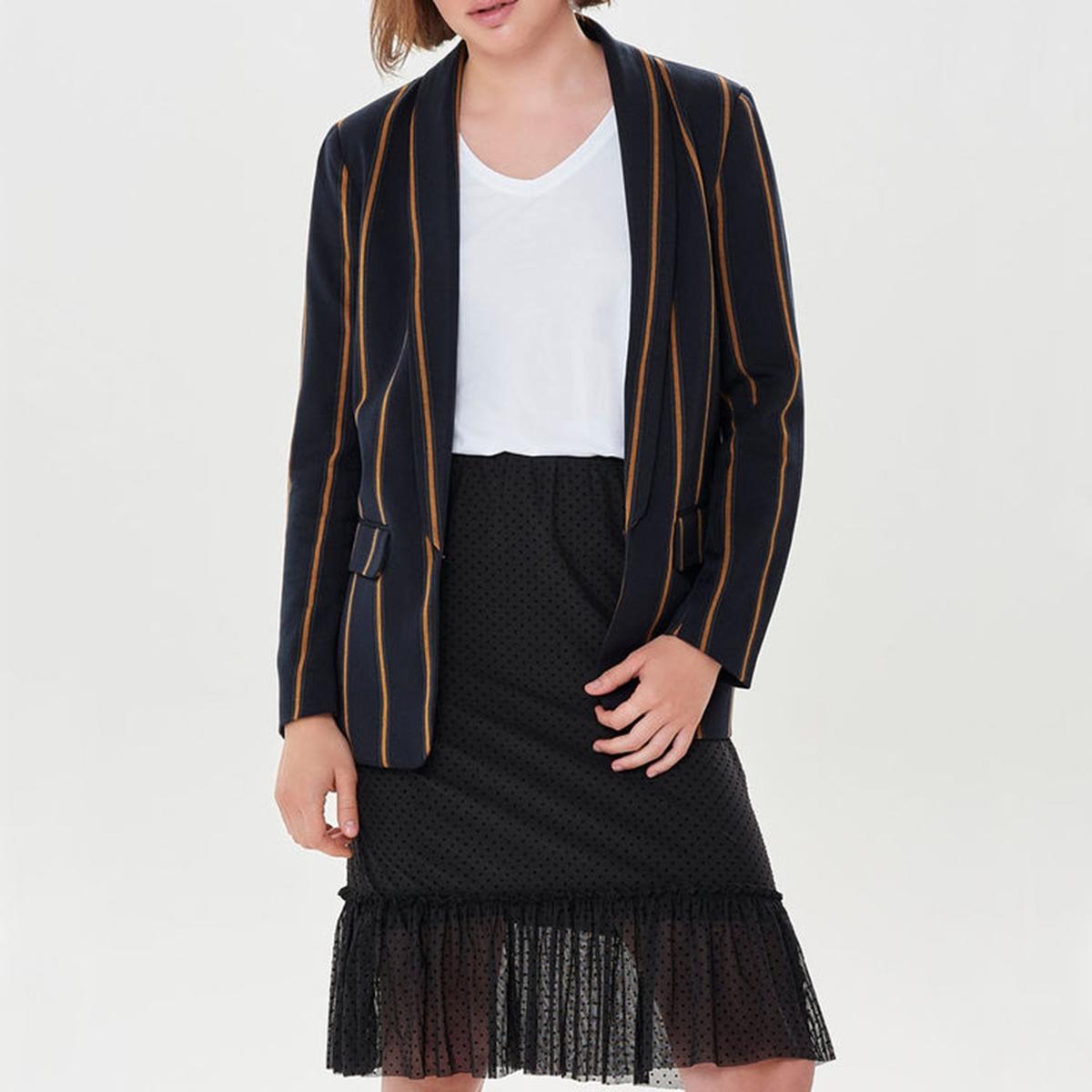 Куртка-блейзер прямого покроя в полоску цена 2017