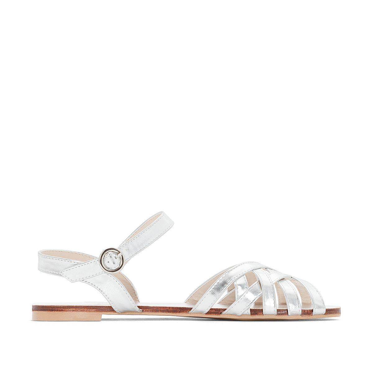 Sandales métallisées pied large 38-45