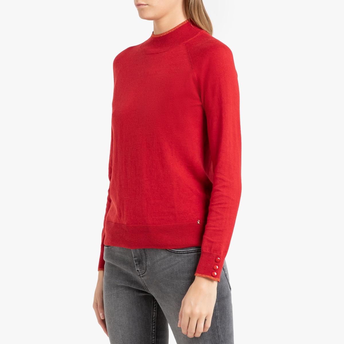 Пуловер La Redoute С воротником-стойкой из тонкого трикотажа ALISSA 2(M) красный цена в Москве и Питере