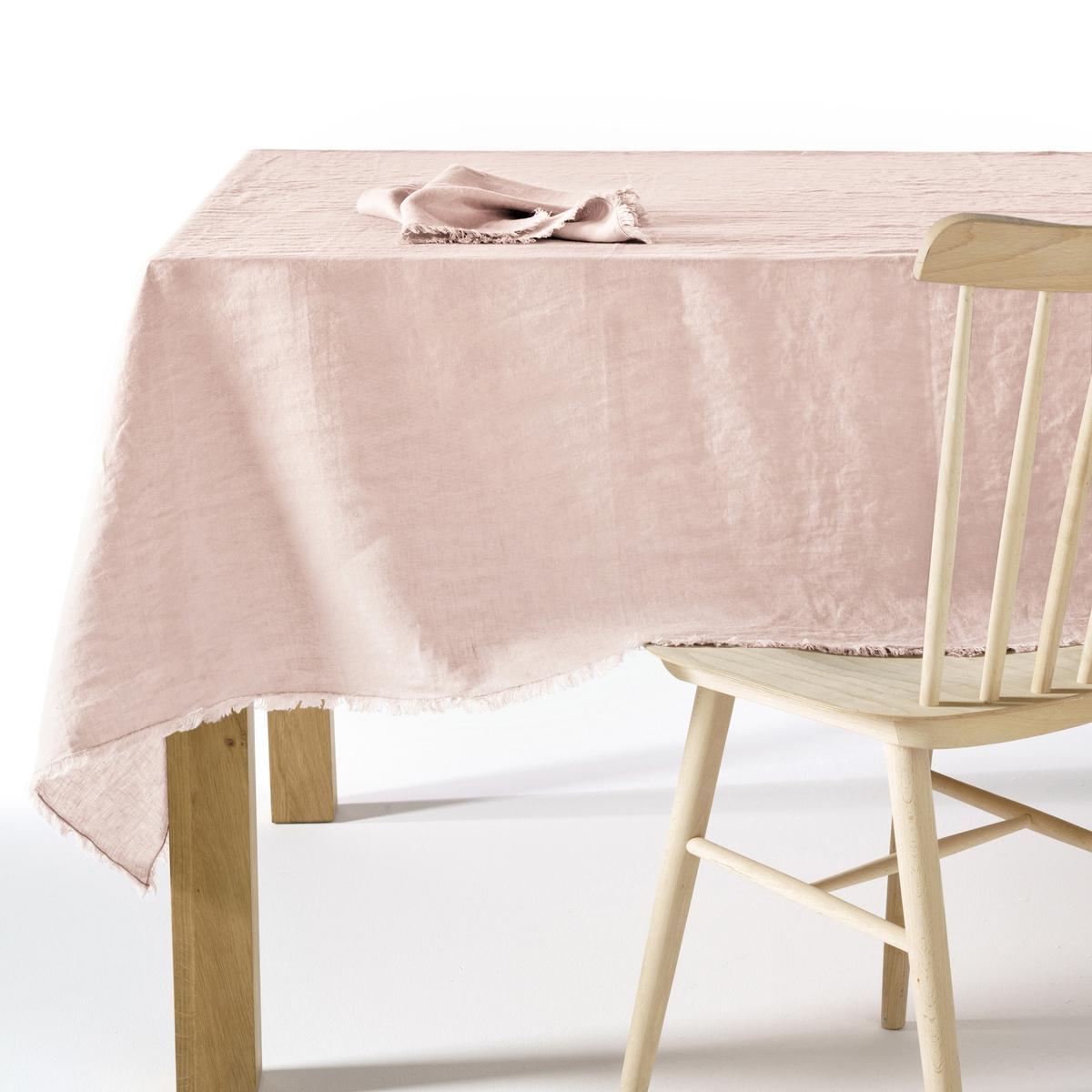 Скатерть из стиранного льна, YastigiСкатерть Yastigi. Скатерть, сочетающая натуральную мягкость стиранного льна и изысканность отделки бахромой Столовые салфетки Yastigi из комплекта продаются на нашем сайте . Материал : - 100% стираный лен<br><br>Цвет: белый,бледно-розовый,серо-бежевый,серый