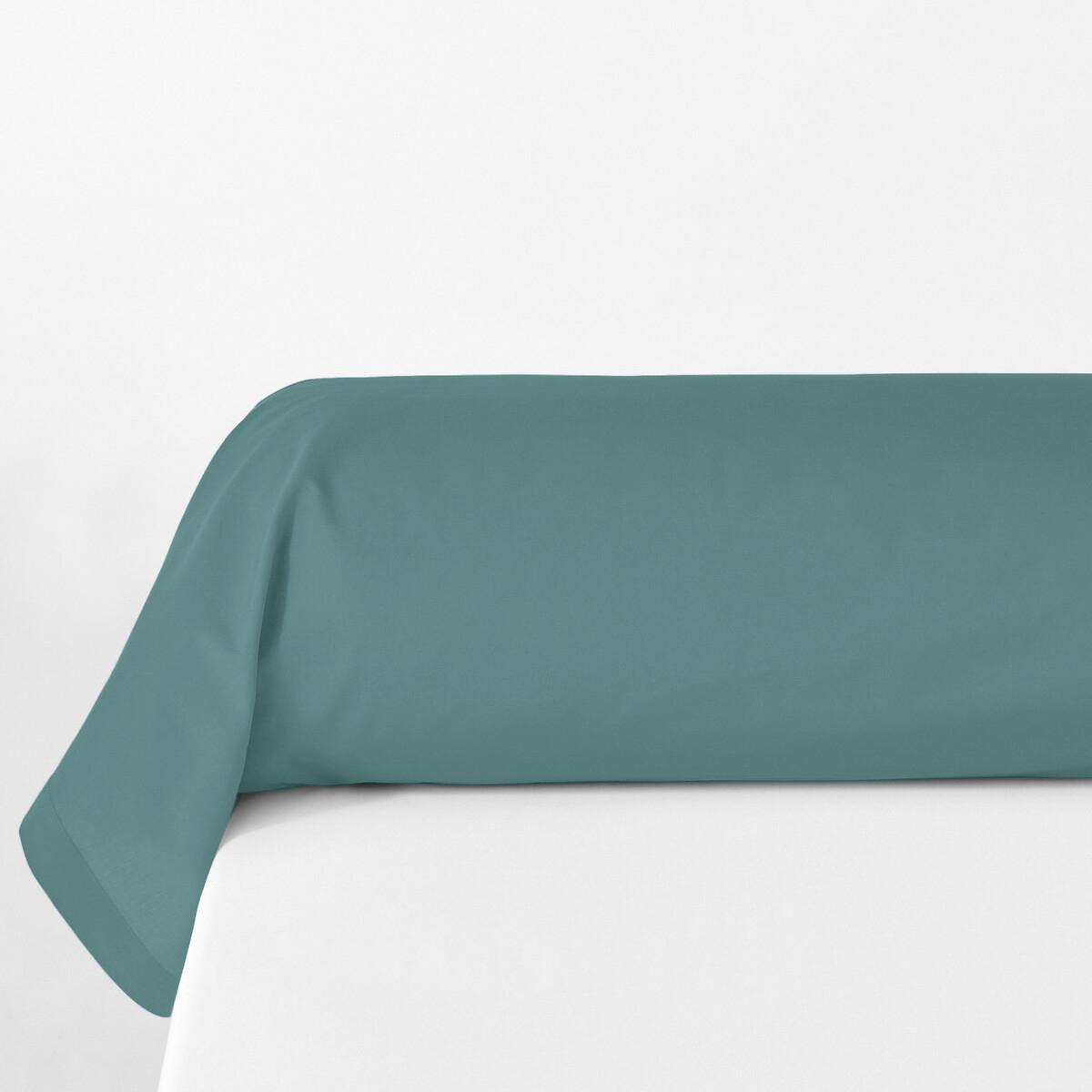 Наволочка La Redoute На подушку-валик из биохлопковой перкали 85 x 185 см синий чехол la redoute на подушку валик ecaille 45 x 45 см синий