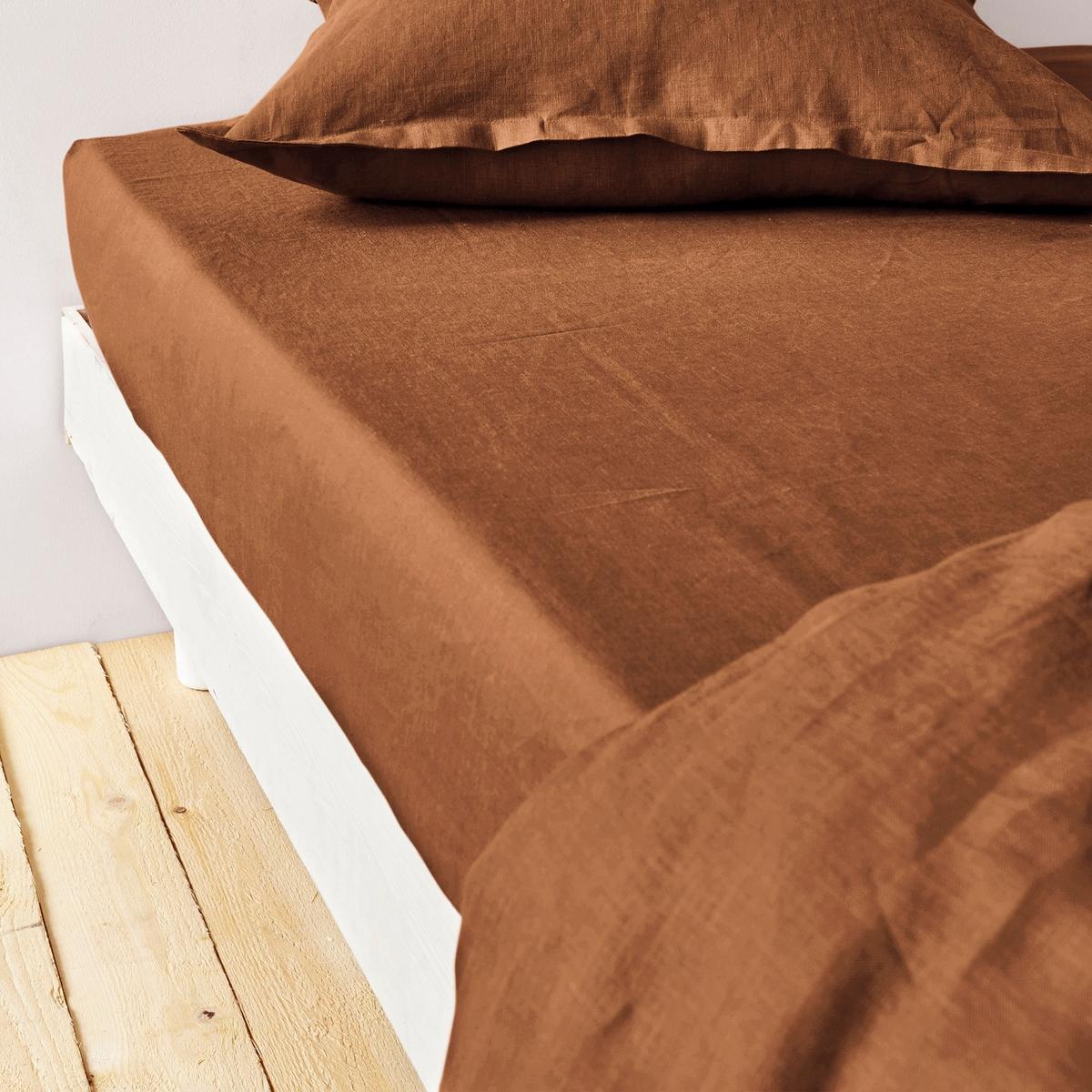 Простыня натяжная из осветленного льна брюки из лиоцелла и льна