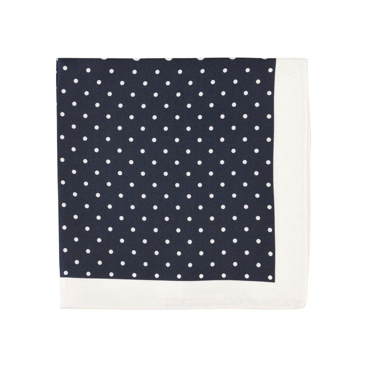 Pochette costume imprimé 4 pois en soie